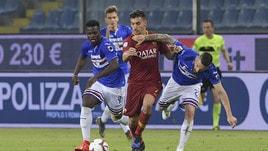 Serie A Sampdoria-Roma 0-1, il tabellino
