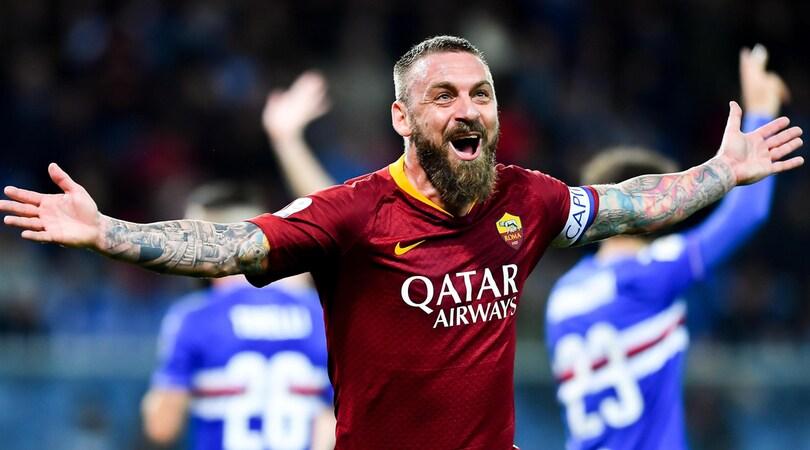 Serie A, Sampdoria-Roma 0-1: De Rossi, un gol per la Champions