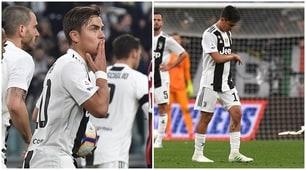Juventus, Dybala sostituito butta il polsino per rabbia