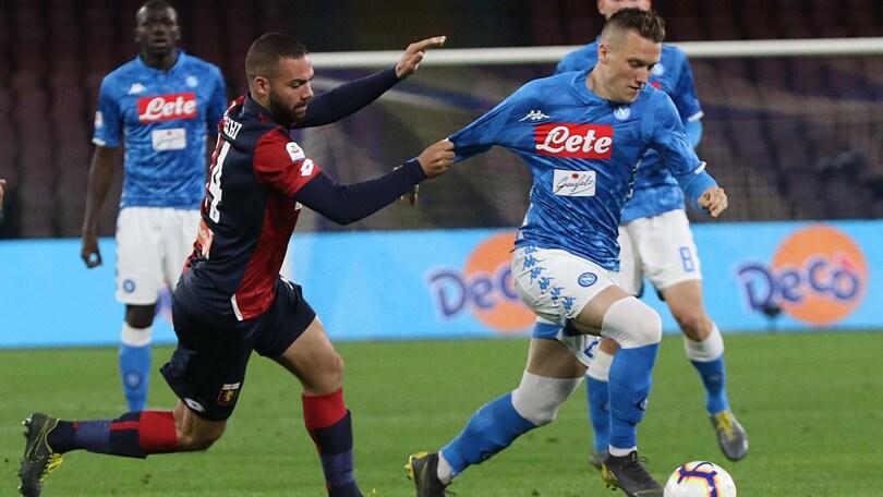 Serie A Napoli-Genoa 1-1, il tabellino