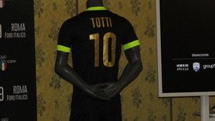 Totti e Figo alla presentazione dell'evento «La notte dei Re»