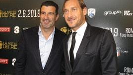 Figo: «Totti avrebbe meritato il Pallone d'Oro»