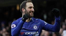 Higuain: Chelsea, ora la Champions e poi resto