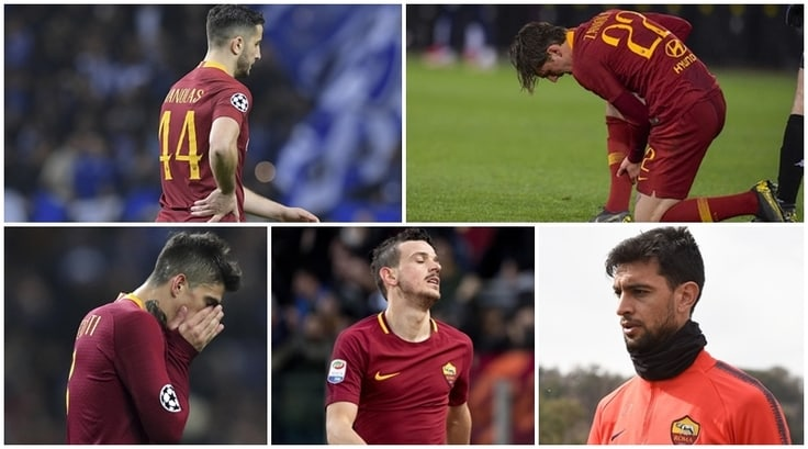 La Roma casca a pezzi: tutti gli infortuni del 2019