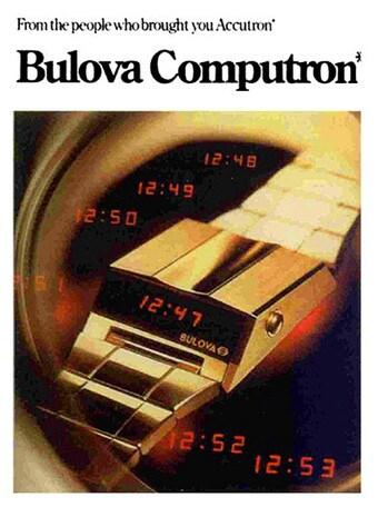 Il Computron Digital Led di Bulova  alla Design Week di MIlano