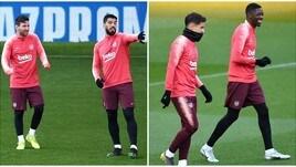 Messi e Suarez spiegano ai compagni come si vince una Champions