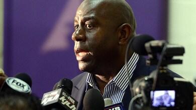 Nba: Lakers choc, Magic Johnson si dimette. Wade, addio amaro a Miami
