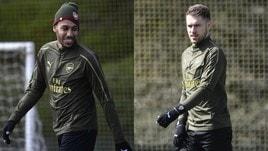 L'Arsenal prepara la sfida contro il Napoli tra sorrisi e volti tesi