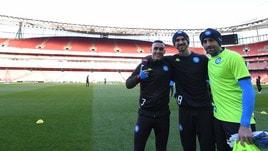 Napoli, Fabian Ruiz, Ospina e Callejon: morale alto all'Emirates