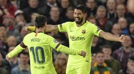 Manchester United-Barcellona 0-1: decisivo l'autogol di Shaw