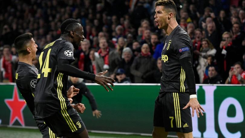 Champions League, Ajax-Juve 1-1: Neres risponde a Cristiano Ronaldo
