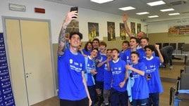 Bastoni testimonial della Junior Tim Cup