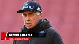 Arsenal-Napoli, le probabili formazioni