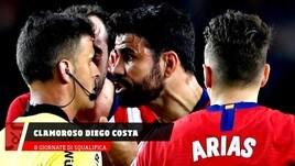 Clamoroso Diego Costa: 8 giornate di squalifica