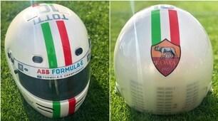 Roma, ecco il casco personalizzato per Totti