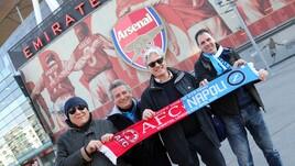 Arsenal-Napoli, tifosi azzurri in centro a Londra