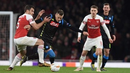 Europa League Arsenal-Napoli 2-0, il tabellino