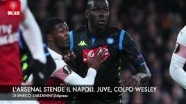 L'Arsenal stende il Napoli. Juve, colpo Wesley