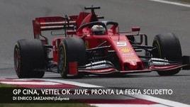 Cina, Vettel subito ok. Juve, pronta la festa scudetto