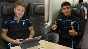 Lazio, trasferta in treno: tanti sorrisi direzione Milano