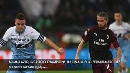 Milan e Lazio, incrocio Champions. In Cina duello Ferrari-Mercedes