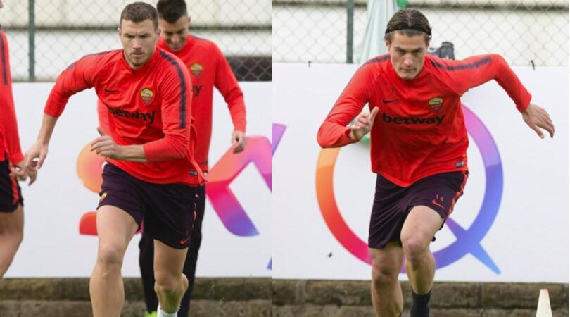 Roma, Dzeko-Schick: sfida per la maglia da titolare