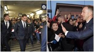 Juventus a Ferrara, l'accoglienza dei tifosi