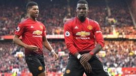 Premier League: doppietta di Pogba su rigore, vince il Manchester United