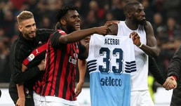 Il Milan vince e Bakayoko esulta con la maglia di Acerbi