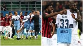 Milan-Lazio: rissa a fine match, Bakayoko prende in giro Acerbi