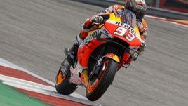 MotoGp Honda, Marquez: «Contento per la pole»