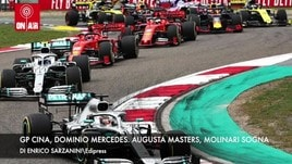 Gp Cina, dominio Mercedes. Augusta Masters, Molinari sogna