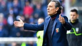 Serie A Genoa, Prandelli: «Clamoroso il fallo subito da Romero sul primo gol»