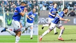 Samp, Defrel e Quagliarella stendono il Genoa