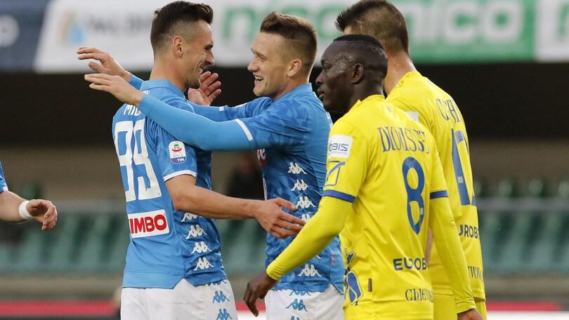 Serie A Chievo-Napoli 1-3, il tabellino