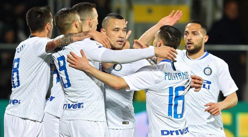 Frosinone-Inter 1-3: decidono Nainggolan, Perisic e Vecino