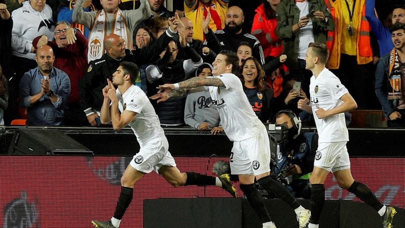 Liga, il Valencia vince il derby con il Levante. Pari tra Valladolid e Getafe