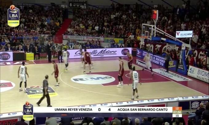 Umana Reyer Venezia-Acqua S.Bernardo Cantù 94-90