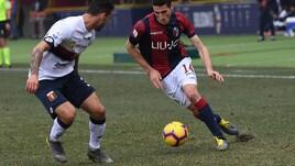 Serie A Bologna, differenziato per Mattiello, Helander e Destro