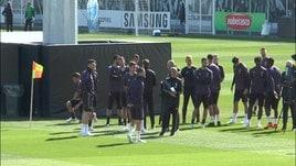 Juventus al lavoro in allenamento