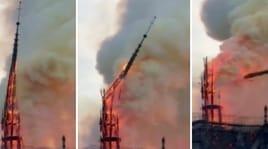 Parigi sotto choc: incendio a Notre Dame, crolla la guglia