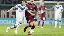 Serie B, Romagnoli all'ultimo respiro: il Brescia passa a Livorno