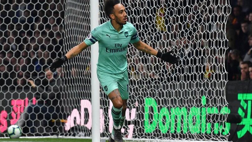 Aubameyang, messaggio al Napoli: gol e Watford ko