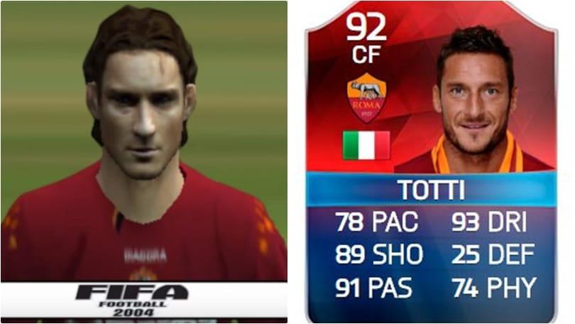 Roma, tutto Totti in Fifa: così è cambiato l'ex capitano