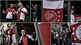 La festa prima della Juve: i tifosi dell'Ajax scatenati a Torino