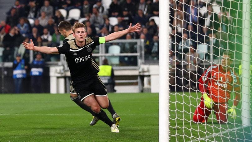 L'Ajax festeggia De Ligt con il gol alla Juve!
