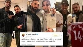 «Maledizione Drake», la Roma vieta ai giocatori i selfie con il rapper