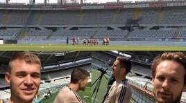Ajax, allenamento al Grande Torino dopo il trionfo contro la Juve