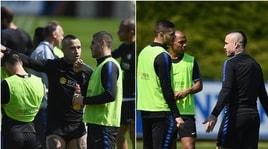 Inter, in allenamento il faccia a faccia Icardi-Nainggolan
