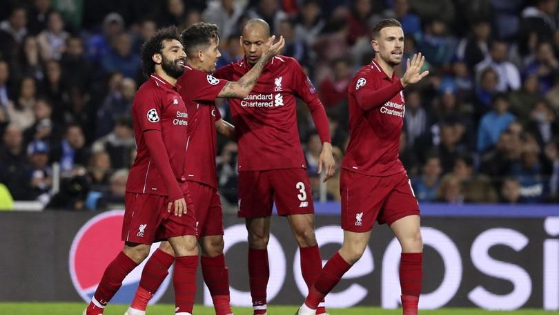 Champions League: il Liverpool cala il poker, Porto eliminato